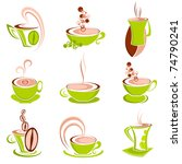 illustration of cup of hot... | Shutterstock .eps vector #74790241