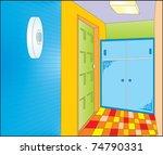 interior anteroom | Shutterstock .eps vector #74790331