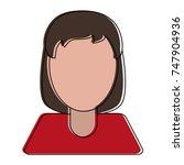 woman faceless avatar | Shutterstock .eps vector #747904936
