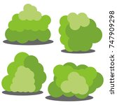 set of four different cartoon... | Shutterstock . vector #747909298