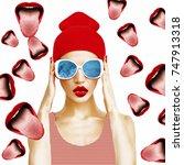 contemporary art collage....   Shutterstock . vector #747913318