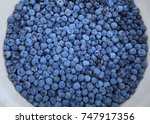 harvest of fresh blueberries | Shutterstock . vector #747917356