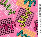 seamless geometric pattern. pop ... | Shutterstock .eps vector #747920452