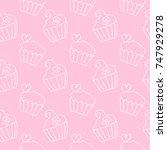pattern doodle cake vector  | Shutterstock .eps vector #747929278