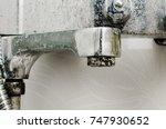 hard water deposit and rust on... | Shutterstock . vector #747930652