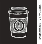 icon of a cup of coffee drawn... | Shutterstock .eps vector #747938386