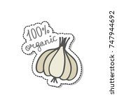 garlic doodle icon | Shutterstock .eps vector #747944692