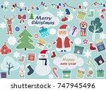 christmas background    Shutterstock .eps vector #747945496