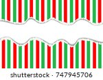 torn paper with red and green... | Shutterstock .eps vector #747945706