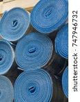insulation material in rolls... | Shutterstock . vector #747946732