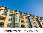 residential modern buildings ... | Shutterstock . vector #747949822