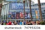 november 3  2017  fans flock to ... | Shutterstock . vector #747953236