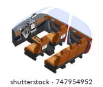 isometric vehicle interior car... | Shutterstock .eps vector #747954952