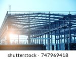 light steel structure | Shutterstock . vector #747969418