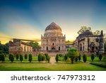 bara gumbad at lodi garden in... | Shutterstock . vector #747973312