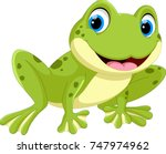 Cute Frog Cartoon Isolated On...