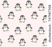 seamless pattern of cute... | Shutterstock .eps vector #747987508