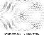 abstract halftone dotted grunge ... | Shutterstock .eps vector #748005982