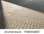 city square floor with light... | Shutterstock . vector #748006885