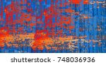 abstract colorful background... | Shutterstock . vector #748036936