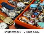 watch and rings are seen in the ... | Shutterstock . vector #748055332