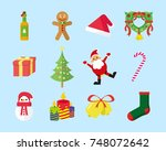 cute christmas vector icon pack | Shutterstock .eps vector #748072642