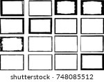 vector frames. rectangles for... | Shutterstock .eps vector #748085512