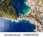 kefalonia assos village in... | Shutterstock . vector #748099552