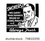 smokers   retro ad art banner | Shutterstock .eps vector #74810350