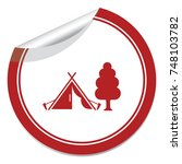 stylized icon of tourist tent.... | Shutterstock .eps vector #748103782