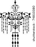 chandelier | Shutterstock .eps vector #74810380