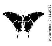 silhouette of a butterfly from... | Shutterstock .eps vector #748115782