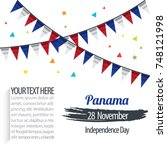 independence day of panama... | Shutterstock .eps vector #748121998