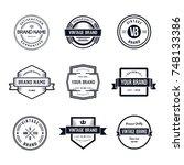 vintage badges logo template... | Shutterstock .eps vector #748133386