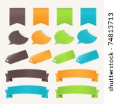 collection web elements and... | Shutterstock . vector #74813713
