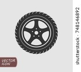 car wheel icon vector | Shutterstock .eps vector #748146892