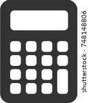 Calculator Icon  Black And...