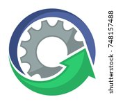 logo icons for mechanical... | Shutterstock .eps vector #748157488
