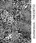 leopard texture.. leopard print....   Shutterstock . vector #748158712