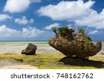akabaka beach in nakijin... | Shutterstock . vector #748162762