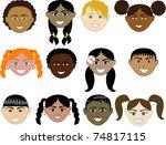 vector illustration of 12 boy... | Shutterstock .eps vector #74817115