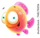 cute cartoon fish | Shutterstock .eps vector #748178356
