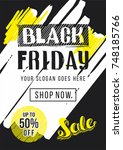 black friday sale advertising.... | Shutterstock .eps vector #748185766