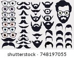 vector illustration of faces... | Shutterstock .eps vector #748197055