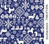 nordic pattern illustration | Shutterstock .eps vector #748197496