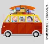 3d illustration. young people... | Shutterstock . vector #748200076