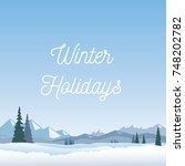 winter holidays background.... | Shutterstock .eps vector #748202782