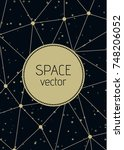 vector abstract polygon space... | Shutterstock .eps vector #748206052