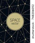 vector abstract polygon space... | Shutterstock .eps vector #748206052