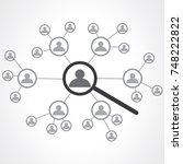 network concept. social media | Shutterstock .eps vector #748222822